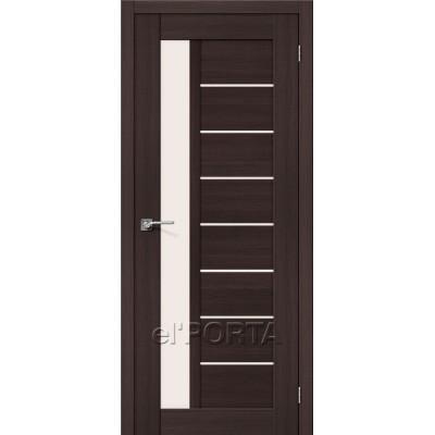 Дверь экошпон BRAVO el'PORTA Порта-27 ДО Wenge Veralinga со стеклом Magic Fog