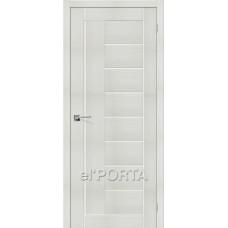 Дверь экошпон BRAVO el'PORTA Порта-29 ДО Bianco Veralinga со стеклом Magic Fog