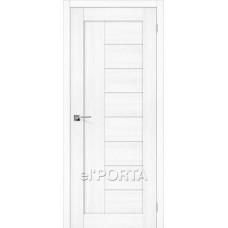 Дверь экошпон BRAVO el'PORTA Порта-29 ДО Snow Veralinga со стеклом Magic Fog