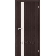 Дверь экошпон BRAVO el'PORTA Порта-11 ДО Wenge Veralinga со стеклом Magic Fog