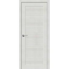 Дверь экошпон BRAVO el'PORTA Порта-28 ДО Bianco Veralinga со стеклом Magic Fog