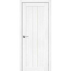 Дверь экошпон BRAVO el'PORTA Порта-24 ДО Snow Veralinga со стеклом Magic Fog