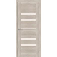 Дверь экошпон BRAVO el'PORTA Порта-30 ДО Cappuccino Veralinga со стеклом Magic Fog