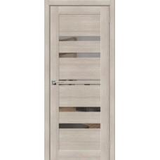 Дверь экошпон BRAVO el'PORTA Порта-30 ДО Cappuccino Veralinga со стеклом Mirox Grey
