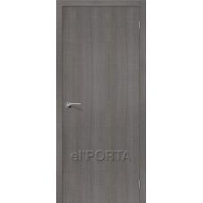 Дверь экошпон BRAVO el'PORTA Порта-50 ДГ Grey Crosscut