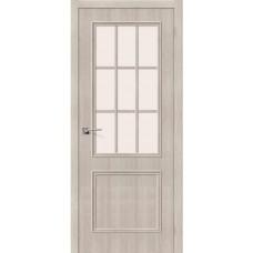Дверь экошпон BRAVO Симпл-13 ДО Cappuccino Veralinga со стеклом Magic Fog