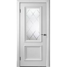 Дверь шпонированная Исток Бергамо 4 ДО RAL 9003