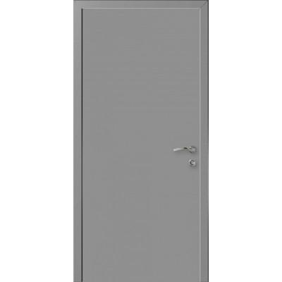 Дверь пластиковая Kapelli Eco RAL 7047 с алюминиевыми торцами