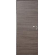 Дверь экошпон Kapelli Eco дуб Неаполь серый поперечный с алюминиевыми торцами