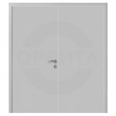 Дверь пластиковая Капель (Kapelli Classic) серый RAL 7035 двустворчатая