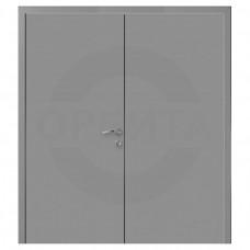 Дверь пластиковая Капель (Kapelli Classic) серый RAL 7040 двустворчатая