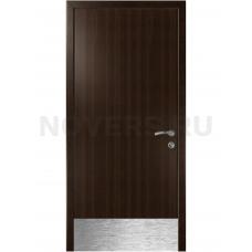 Дверь пластиковая Капель (Kapelli Classic) венге с отбойной пластиной