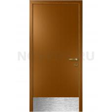 Дверь пластиковая Капель (Kapelli Classic) дуб золотой с отбойной пластиной