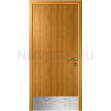 Дверь пластиковая Капель (Kapelli Classic) миланский орех с отбойной пластиной