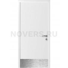 Дверь пластиковая Капель (Kapelli Classic) белый с отбойной пластиной