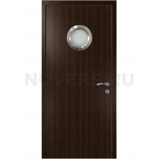 Дверь пластиковая Капель (Kapelli Classic) венге с иллюминатором