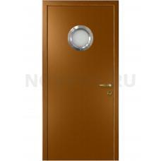 Дверь пластиковая Капель (Kapelli Classic) дуб золотой с иллюминатором