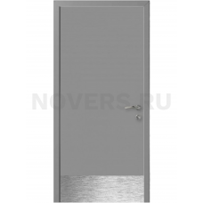 Дверь пластиковая Капель (Kapelli Classic) темно серый RAL 7040 с отбойной пластиной