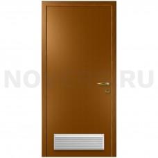 Дверь пластиковая Капель (Kapelli Classic) дуб золотой с вентиляционной решеткой
