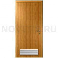 Дверь пластиковая Капель (Kapelli Classic) миланский орех с вентиляционной решеткой