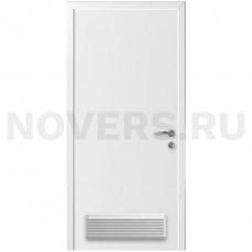 Дверь пластиковая Капель (Kapelli Classic) белый с вентиляционной решеткой