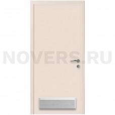 Дверь пластиковая Капель (Kapelli Classic) кремовый RAL 9001 с вентиляционной решеткой