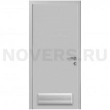 Дверь пластиковая Капель (Kapelli Classic) светло серый RAL 7035 с вентиляционной решеткой