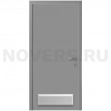 Дверь пластиковая Капель (Kapelli Classic) темно серый RAL 7040 с вентиляционной решеткой