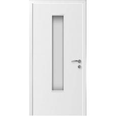 Дверь пластиковая Капель (Kapelli Classic) ДО белый армированное стекло