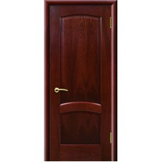 Дверь шпонированная Комфорт Александрит ДГ красное дерево