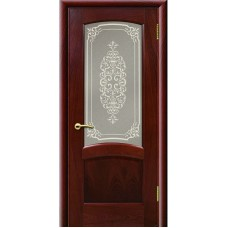 Дверь шпонированная Комфорт Александрит ДО красное дерево