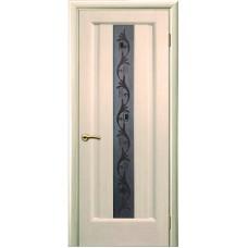 Дверь шпонированная Комфорт Гиацинт 2 ДО беленый дуб