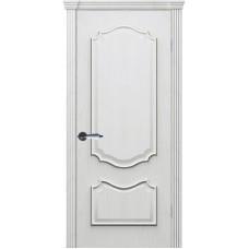 Дверь шпонированная Комфорт Рубин 2 ДГ дуб молочный