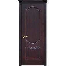 Дверь шпонированная Комфорт Рубин 2 ДГ красное дерево тёмное