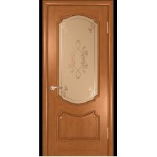 Дверь шпонированная Комфорт Рубин 2 ДО светлый анегри