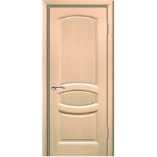 Дверь шпонированная Комфорт Топаз ДГ беленый дуб