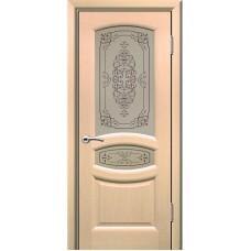 Дверь шпонированная Комфорт Топаз ДО беленый дуб