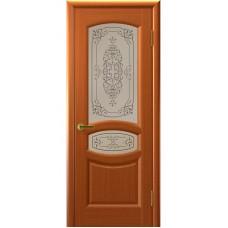 Дверь шпонированная Комфорт Топаз ДО темный анегри