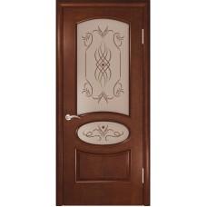 Дверь шпонированная Комфорт Жемчужина 2 ДО анегри шоколад