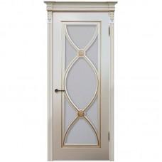 Дверь эмаль Легенда Фламенко ДО RAL 9001 с золотой патиной