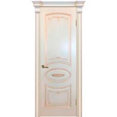 Ульяновская дверь эмаль Легенда Вуаль  ДГ эмаль RAL 1013 патина шампань