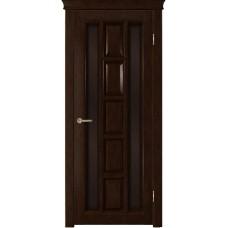 Ульяновская дверь шпонированная Легенда Квадра  ДО тон каштан