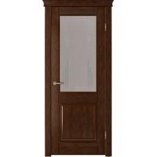 Ульяновская дверь шпонированная Легенда Прайм  ДО тон каштан
