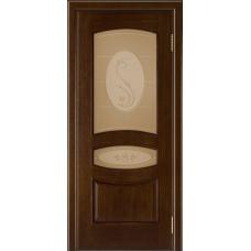 Ульяновская дверь шпонированная ЛайнДор Алина  ДО Орех