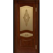 Ульяновская дверь шпонированная ЛайнДор Амелия  ДО Красное дерево