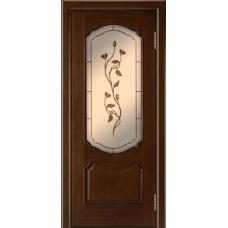 Ульяновская дверь шпонированная ЛайнДор Богема  ДО Орех