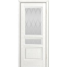 Ульяновская дверь шпонированная ЛайнДор Калина-К ДО Ясень белый