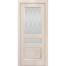 Ульяновская дверь шпонированная ЛайнДор Калина  ДО Ясень жемчуг