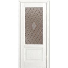 Ульяновская дверь шпонированная ЛайнДор Кантри-К ДО Ясень белый