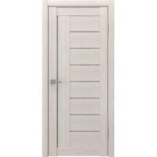Дверь экошпон ЛУ 17 капучино стекло белое